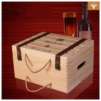 Custom-made Six Wine Crates Wooden Wholesale Wine Case