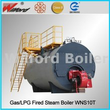 Big Flue Gas Tube Oil Fired Steam Boiler / Wood Fired Steam Boilers, 5 Ton