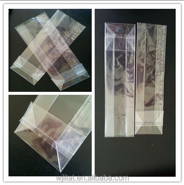 Transparent OPP square bottom bag with gusset