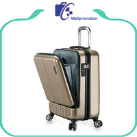 Custom large capacity abs+pc laptop trolley luggage bag