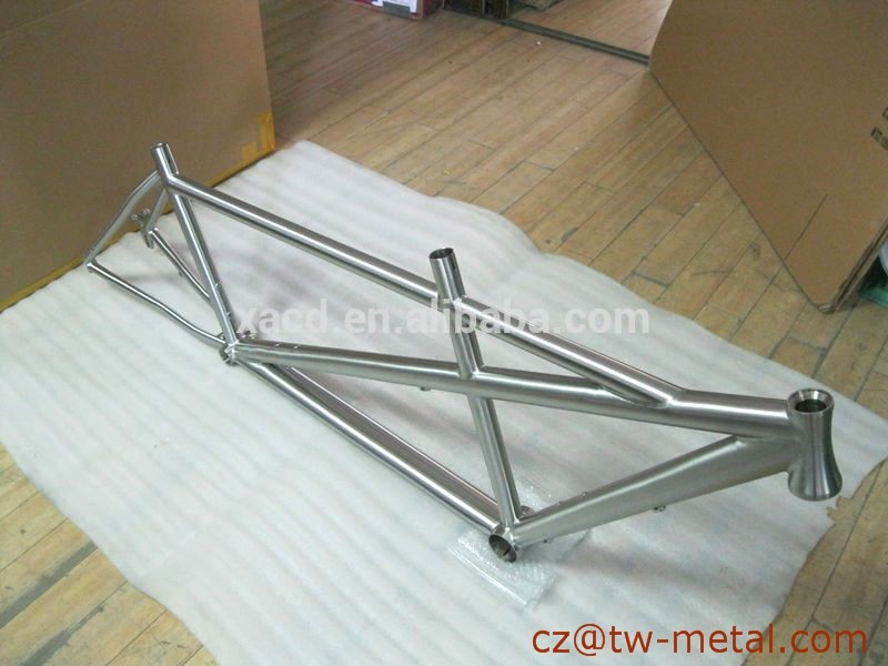 Titanium tandem bicycle frame titanium bike frame with taper head tube & post mount brake