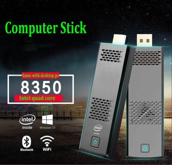 top stick Win10 TV Box Intel free to air set Intel Z8350 CPU 2G/32G tv dongle