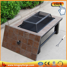 Garden Multi-function rectangular Table Fire Pits/BBQ grill