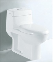 YA-3005 gravity one piece toilet seat P-trap wall drain 200mm 300mm 400mm China ceramic bathroom sets