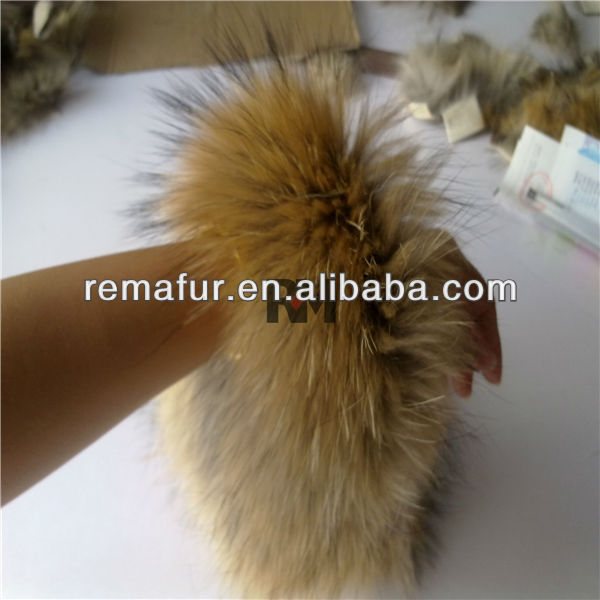 high quality racoon fur for hood