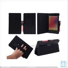 leather phone case for The New Nexus 7 II FHD Stand Case Cover with Elastic Hand Strap P-GGNEXUS7IICASE007