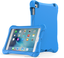 Shockproof Case Light Weight Kids EVA Case Super Protective Cover Case for Kids Children For Apple iPad Air 2--Blue