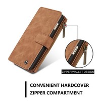 Factory manufacture leather flip case for iphone 7 with card slot and money pocket