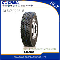 China top quality truck tyres 315/80r22.5 suitable for driving wheel tyre