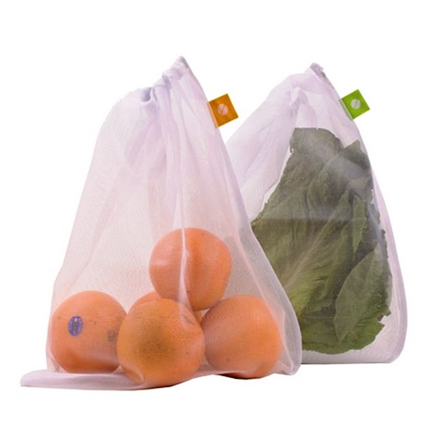 premium reusable eco friendly mesh produce bags with drawstring net bag for vegetables and fruits