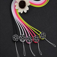 New Flower Design Neck Mobile Phone Security Straps Hot