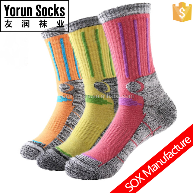 Men's custom sport sock elite basketball running cycling socks half terry sox