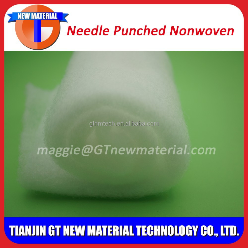 polyester needle punched nonwoven fabric, needle punched felt fabric