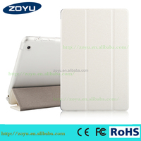 Smart silk texture flip stand transformers cover for ipad mini case