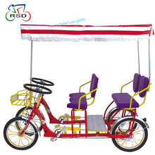 "Hot sale one person surrey bike cycling in the park/24"" steel frame surrey bicycle/China oem tandem bikes for sale"