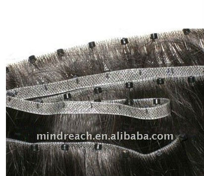 Fashion Hand-tied Pu Skin Weft with Micro