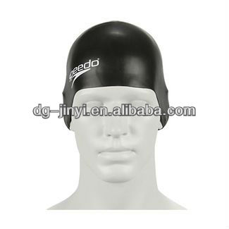 high quality adult funny swim cap with printing