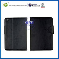 Stand leather smart cover for ipad mini,for tablet pc case
