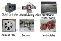 Hatchery eggs accessories,heating tube,humitity tube,egg tester,exhaust fan