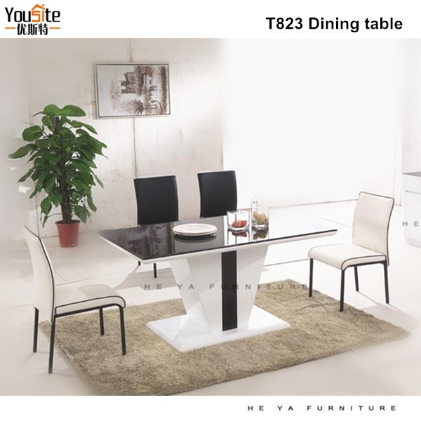 seater tempered glass dining table arabic style dining room table