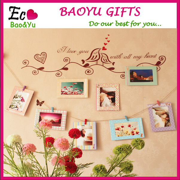DIY Hanging Paper Photo Frame Picture Album Happy Birthday Wishes For Girlfriend