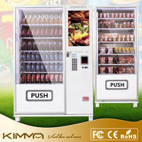 Two cabinets refreshment service for office workplace vending machine