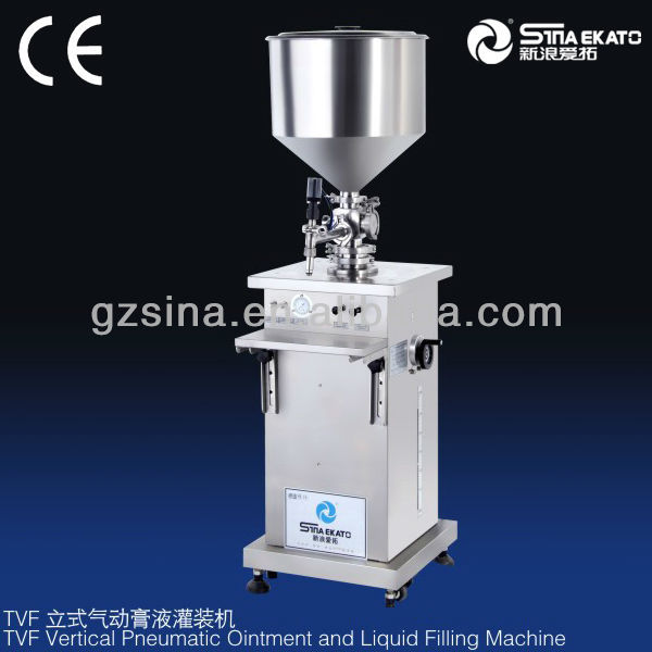 high quality single head vertical filler for shampoo/lotion/detergent