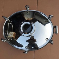 Stainless Steel elliptic type manhole cover (with pressure) with sight glass