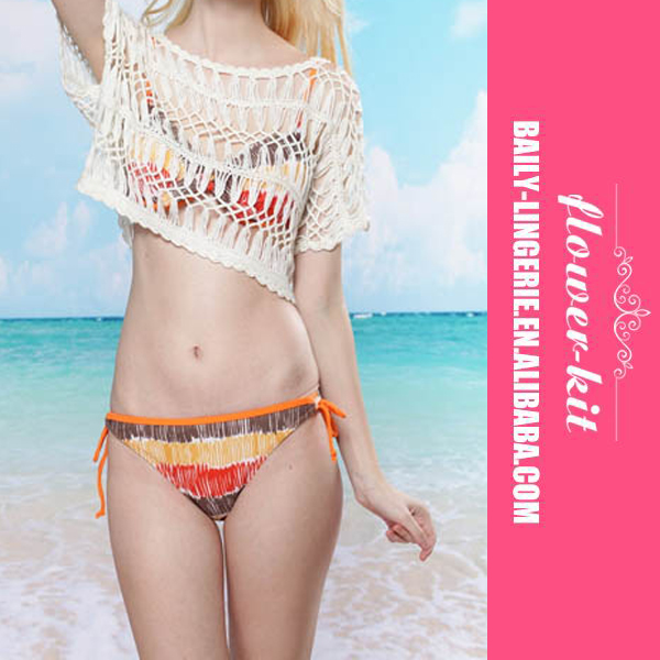 <strong>Sexy</strong> white crochet beachwear see through biniki cover up