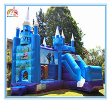 Factory Directly Sell cheap inflatable bouncer castle with slide,jumping castle,funny frozen bouncer castle for sale