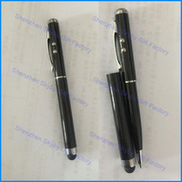 4 In 1 Multi Function Pointer Stylus Promotional Laser Metal Touch Screen Pen