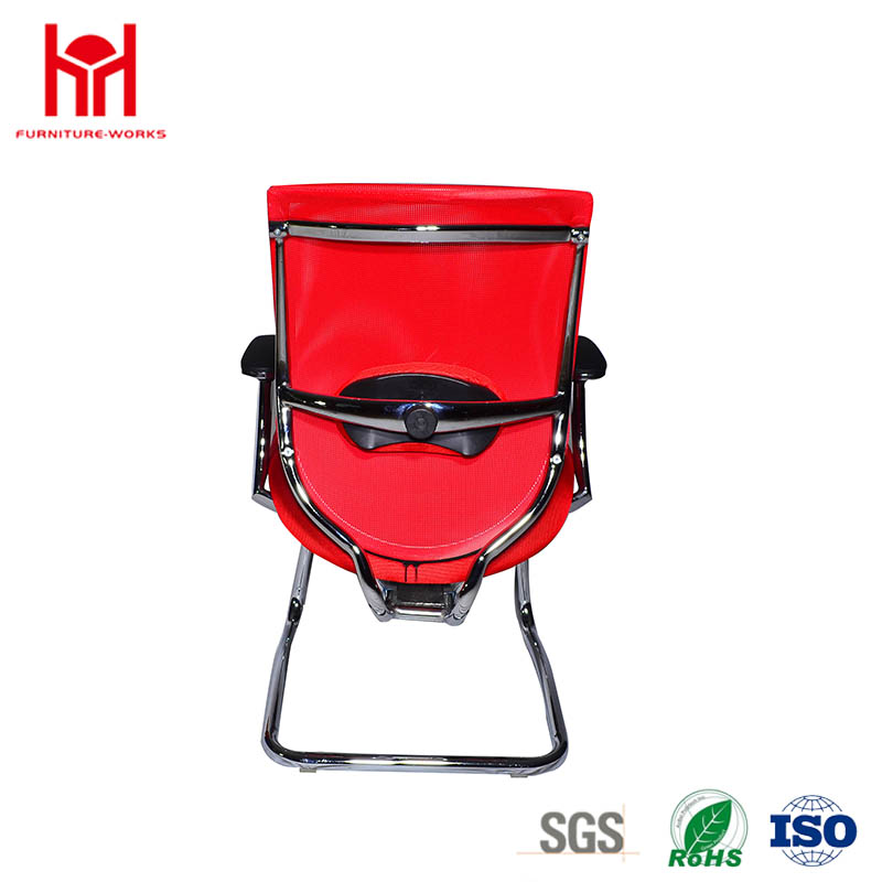 Chinese Factory Direct Chromed Red Mesh Office Chair