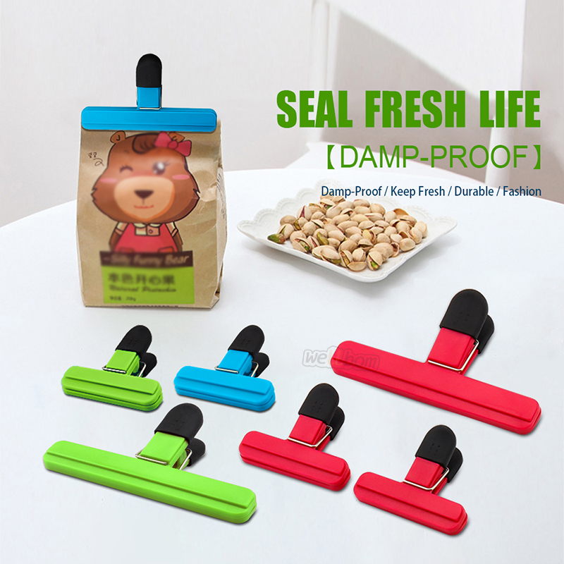 Large Chip Bag Clips Food Clips Plastic Heavy Duty Air Tight Seal Grip Assorted Colors for Coffee Potato and Food Bags