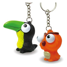 3D plastic pvc cartoon animal soft toys with keychain