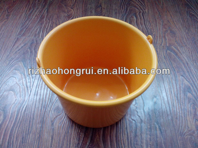 10L YELLOW OIL PLASTIC BUCKET