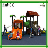 tree house double-slide & tunnel small children toy