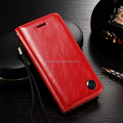 genuine leather flip wallet stand phone case cover for Apple iphone 7 6 6s 6s plus 5 S 4 SE A C mobile accessories