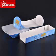 Disposable custom printed paper food tray
