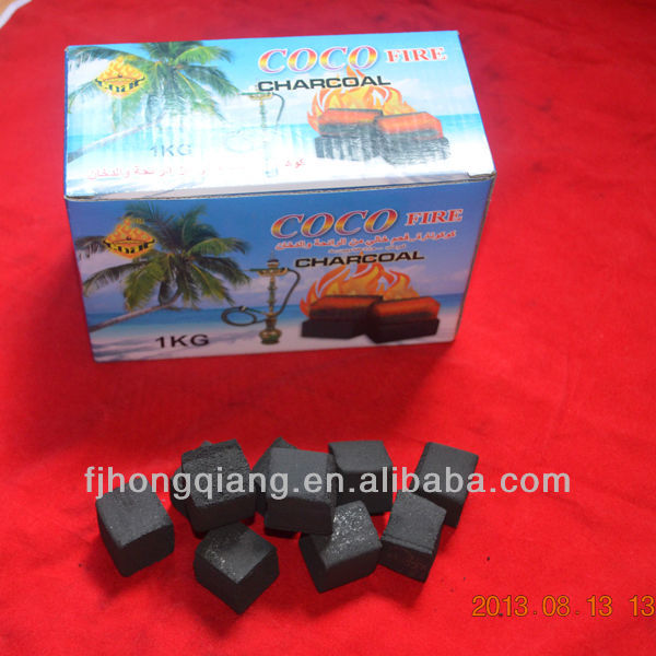 Coco charcoal briquette for hookahs hot sale