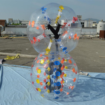 Thickness 0.8/1.0 mm TPU/PVC bubble football human bumper ball for sale bubble ball suit TB266