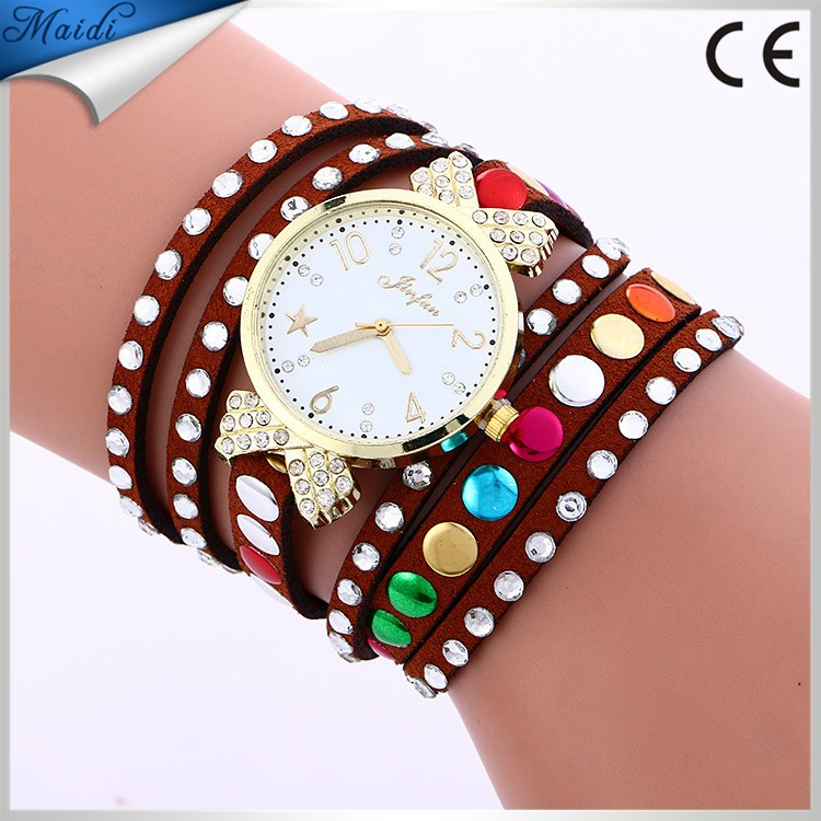 2017 China Woman's Fashion Long Watches Long Wrap Bracelet Casual Ladies Dress Wrist Watches WW097