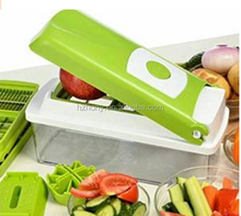 12pcs super slicer plus vegetable fruit peeler dicer cutter , Cutter Slicer Chopper & Container As Seen On TV