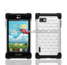 3 in 1 diamond case for LG F3 ms659 cover,gel case for lg optimus f3 ls720