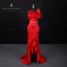ST-5306 red Jewel Neck Sleeveless Mermaid Long Evening Dress Prom Gowns from china guangzhou supplier