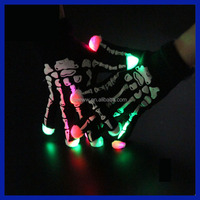 2016 Amazon Supplier LED Colorful Rave Gloves 7 Colors Light Show Flashing Finger Lighting Gloves