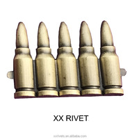 Bullet Shaped Buckle Metal Accessories For