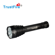 Led aluminum rechargeable heavy duty torch light, TrustFire 8000lumens army torch light for hunting with CE,FCC