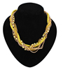Wholesale bling Bib women necklace princess chunky beaded necklace