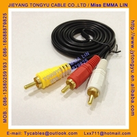audio video cable AV cable 1RCA to 2RCA