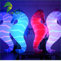 Led Lighting Giant Seahorse Model / Advertising Cartoon Horse Shaped Balloons / Decor LED Light Inflatable Sea Horse